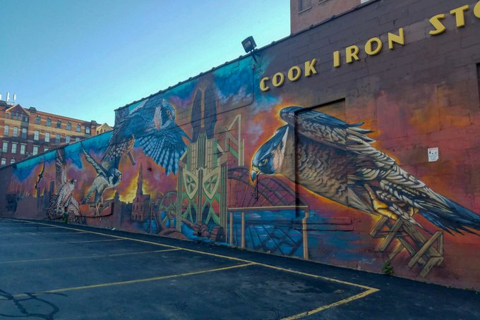 hawk mural rochester ny