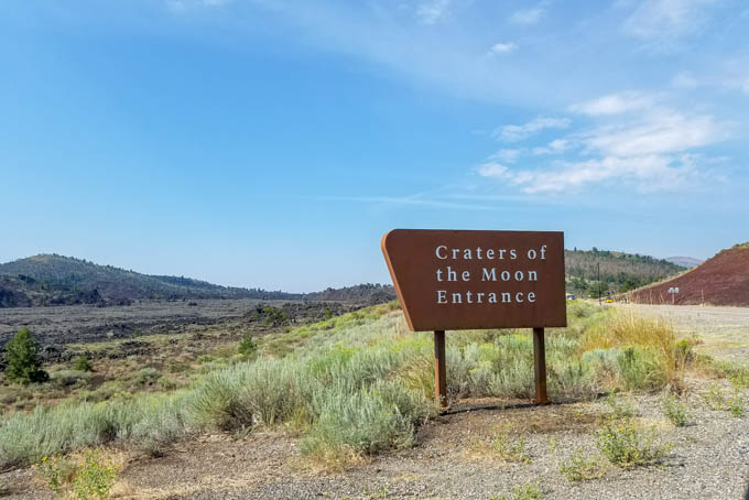 craters of the moon idaho sign